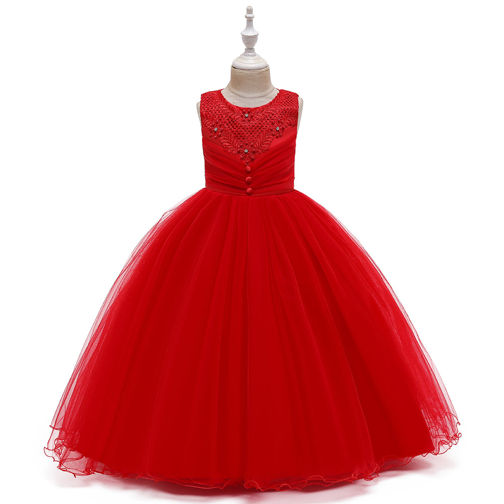 New Girls Full Length Ball Gown Dresses For Wedding Formal Holiday Party Bridesmaid