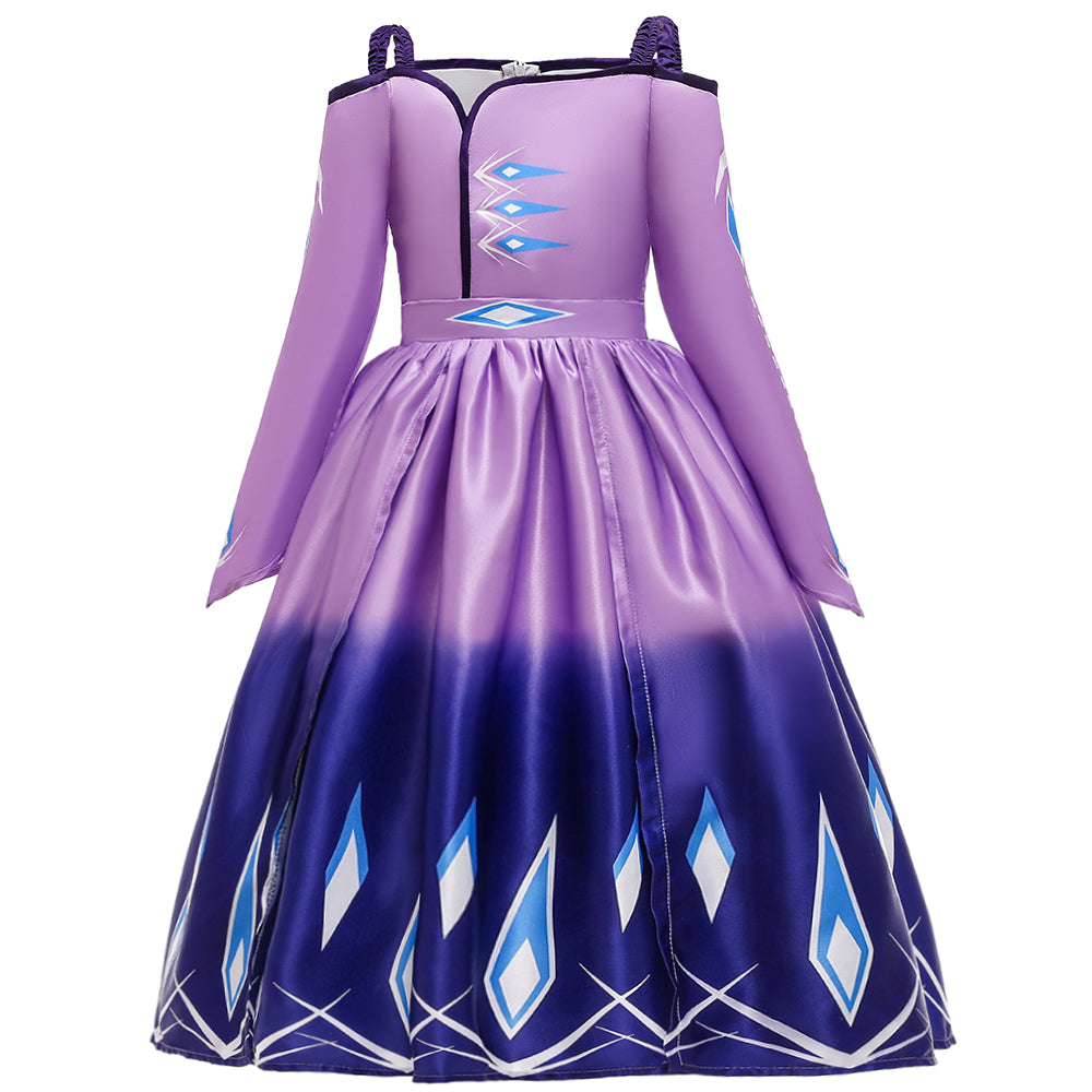 Frozen 2 Girls Elsa Princess Cosplay Costume Dresses For Party Holidays