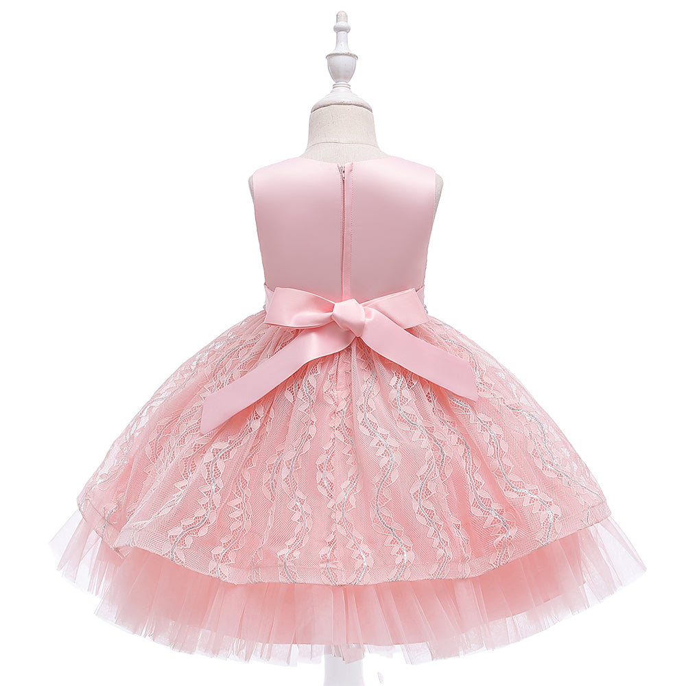 Girl Wedding Dresses Lace Tutu Formal For Wedding Holiday Party Bridesmaid