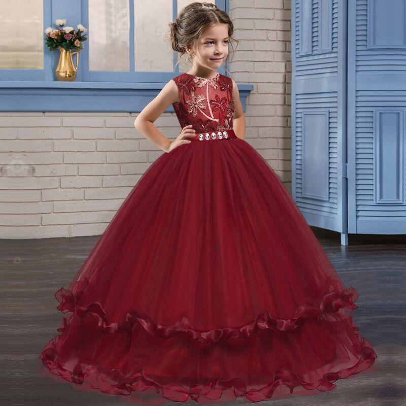 Flower Girl Dresses Formal Princess Party Holiday Bridesmaid Wedding Formal