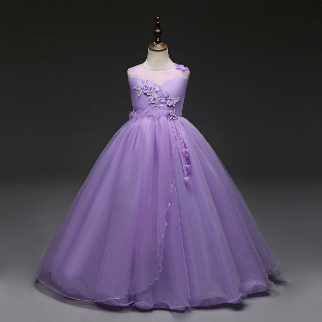 Flower Girl Dresses Princess Formal Graduation Bridesmaid Wedding Ball Gown