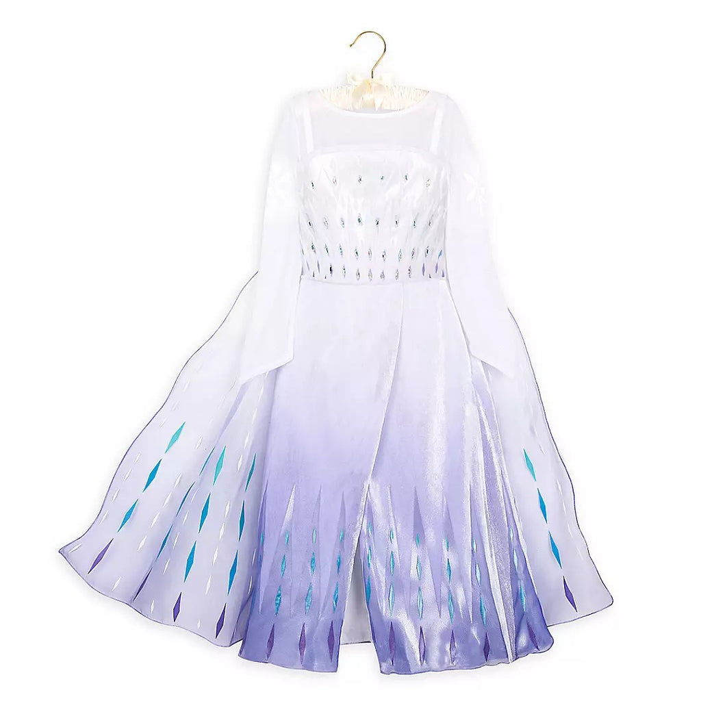 Frozen 2 Girls Elsa Princess Long Sleeve Cosplay Costume Dresses With Cape For Party Holidays