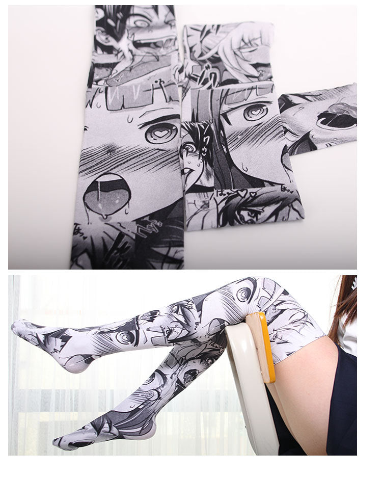Ahegao Thigh High Socks