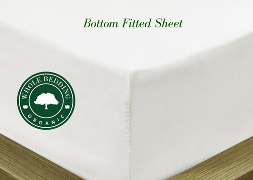 "72' X 84"" Cal King Organic Cotton Adjustable Bed Sheet"