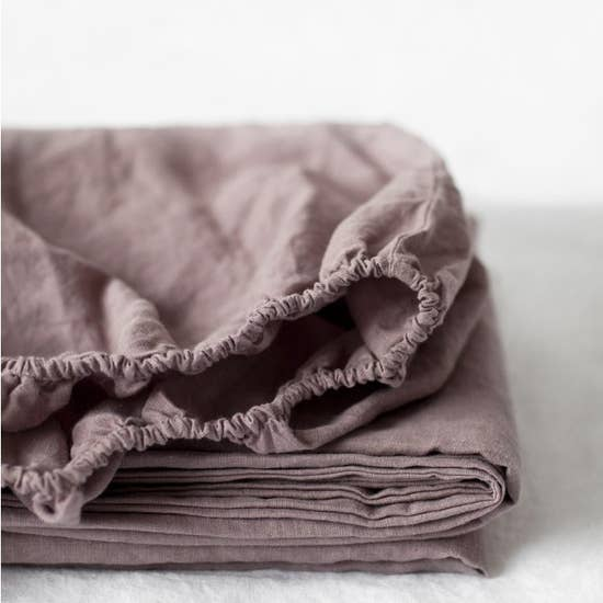 Stone Washed Linen Fitted Sheets