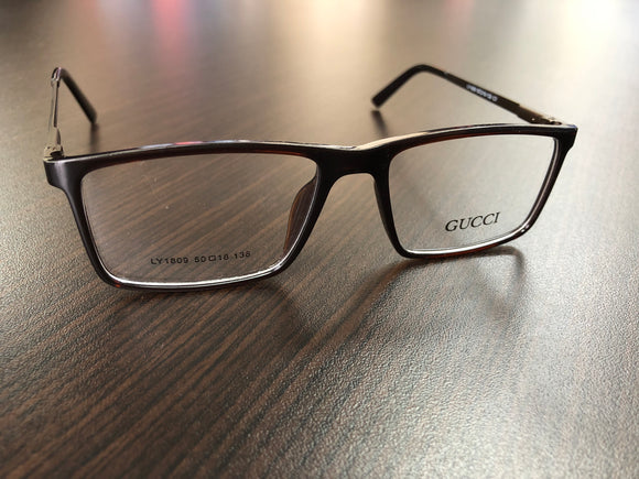 Women Men Eyewear Dark Brown Frame Eyeglasses