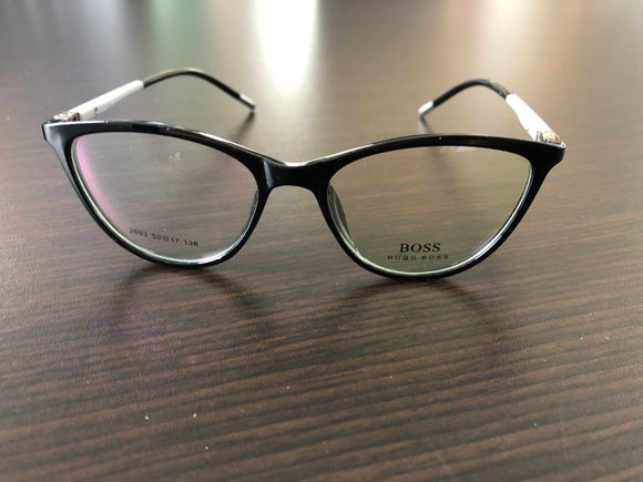 Hugo Boss Women Eyewear  Light Grey and Black Frame Eyeglasses