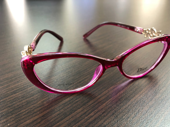 Women's Eyawear Rose Red Flower Frame Eyeglasses