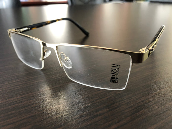 Men's Eyewear  Gold and Amber Frame Eyglasses