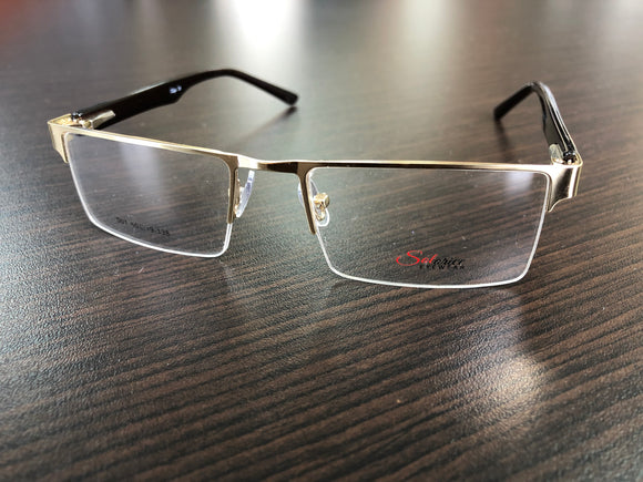 Men's Eyewear Gold Brown Eyeglasses