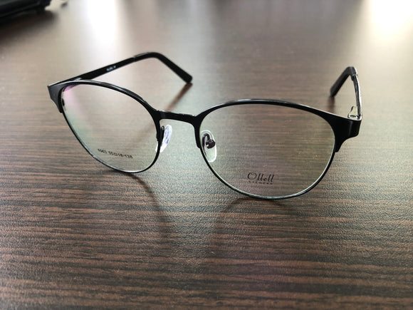 Ollell Eyewear Women Men Black Eyeglasses