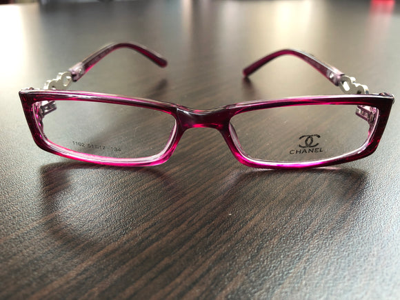 Women 's Eyewear Rose Red Frame Eyeglasses