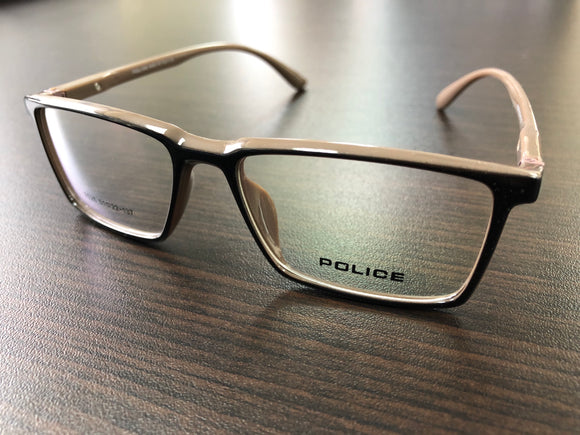 Police Eyewear Black and Light Brown Frame Eyeglasses