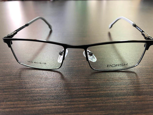 Men's Eye Frame Black Eyeglasses 138_2