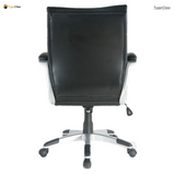 TygerClaw Stylish Mid Back Leather Office Chair, Black
