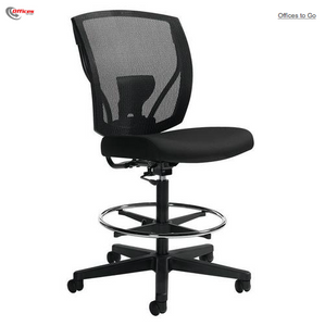 Offices to Go™ Ibex™ Mesh Drafting Chair, Black - Armless
