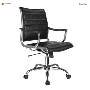 TygerClaw Mid Back Bonded Leather Office Chair