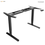 Sit-Stand Dual-Motor Height Adjustable ADR Desk Frame, Electric-Black- PrimeCables®