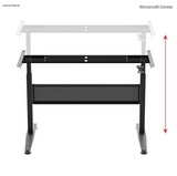 Height Adjustable Gas-Lift Sit-Stand Desk Frame, 5ft