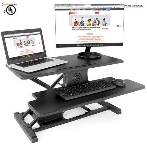 Electric Height Adjustable Sit-Stand Desk Converter