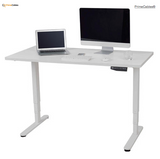 Sit-Stand Dual-Motor Height Adjustable ADR Desk Frame, Electric-White + Standing Mat