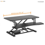 "Electric Height Adjustable 37.4"" Sit-Stand Desk Converter"