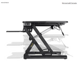 Electric Height Adjustable Sit-Stand Workstation Desk Converter, 36in