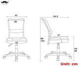 Swivel Mesh Office Chair , Armless, Mid-Back- Moustache®