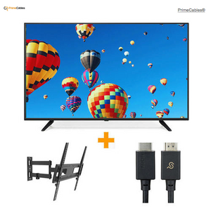 55'' 4K UHD DLED TV + Full Motion TV Wall Mount + HDMI 2.1 Cable Combo