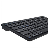 Bluetooth Keyboard Slim Mini 3.0 Wireless QWERTY Key Board Silver