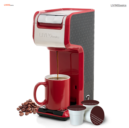 2 In 1 Single Serve Coffee Maker Brewer, Ground & Capsule, Slim Design