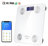 Body Fat Scale Smart Weighing, Wireless BMI Step-on Bluetooth, 180kg/396lb