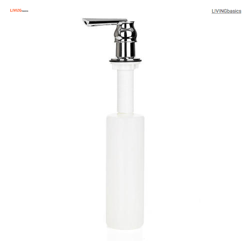 Zinc Alloy Thread Soap and Lotion Pump Dispenser for Kitchens and Bathrooms