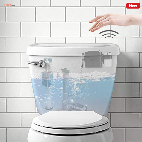 Automatic Touchless Microvave Sensor Toilet Flusher