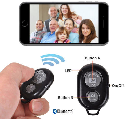 Selfie Bluetooth Wireless Remote Control Camera Shutter Release Selfie Timer