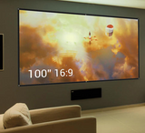 "100"" Projector Screen Portable and Collapsible Wall/Ceiling Mount"
