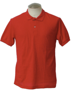 Red Polyester T-Shirt Without Logo