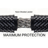 Premium HDMI® 2.0 Cables with Nylon Jacket  Mamba Series - 6Ft (Black)