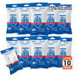 Hand Sanitizer 75% Alcohol Wipes with Aloe 20Pcs/Pack, 10 pack