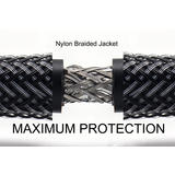 Premium HDMI 2.0 Cables with Nylon Jacket Mamba Series - 10Ft (Black)