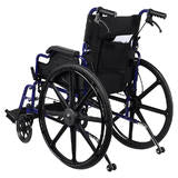 "Foldable Lightweight Wheelchair with Swing Away Footrests, 12"" Rear Wheel"