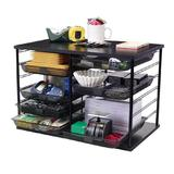 Rubbermaid® Mesh Mailroom Organizer, 12 Compartments - Black