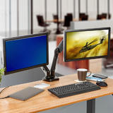 Full Motion Dual Monitor Adjustable Gas Spring Desk Mount