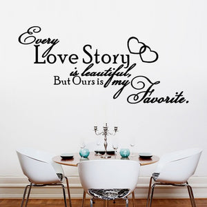 Muursticker ''Love Story''