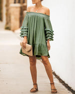 Women's Fashion Solid Off Shoulder Strapless Mini Dress