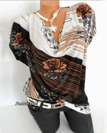 Casual Bating Wing Sleeve Floral Printed  Women Shirts Tops