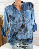 Women's Basic Plus Size Geometric Sequins Shirt