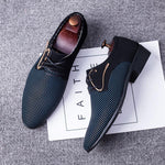 Large Size Men Stylish Splicing Leather Casual Formal Dress Shoes