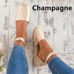 Women Summer Style Sandals PU Flat Espadrilles Sandals
