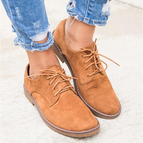 Trendy Comfort Oxfords Shoes Lace-up Daily Faux Suede Loafers